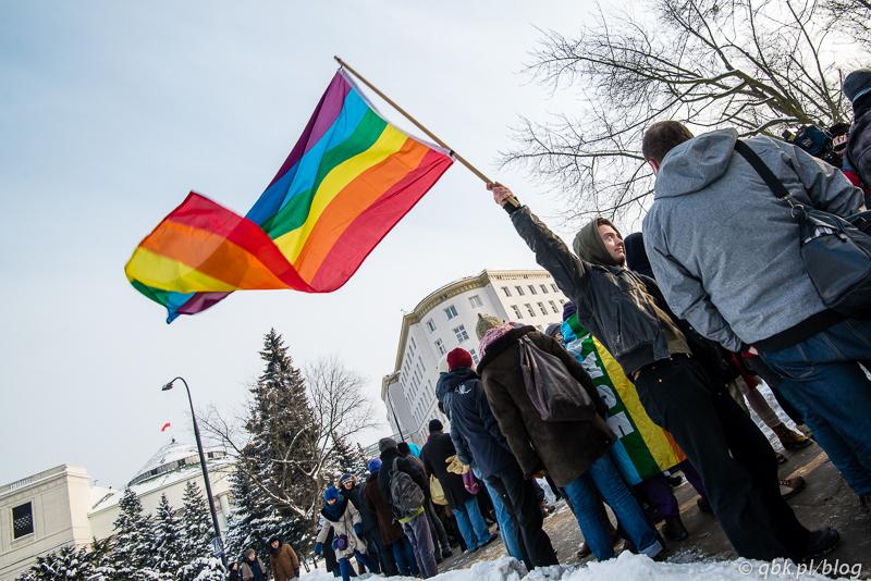 27.01.13 Sejm. Protest przeciw homofobii.