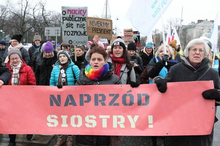 21.01.17 Warszawa. Marsz Kobiet przeciwko Trumpowi.