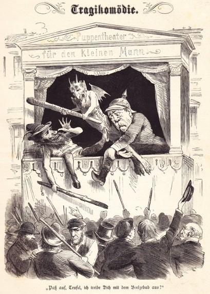 """""""Socjalizm państwowy"""" Bismarcka zastępuje socjaldemokrację (patrz opis niżej)."""
