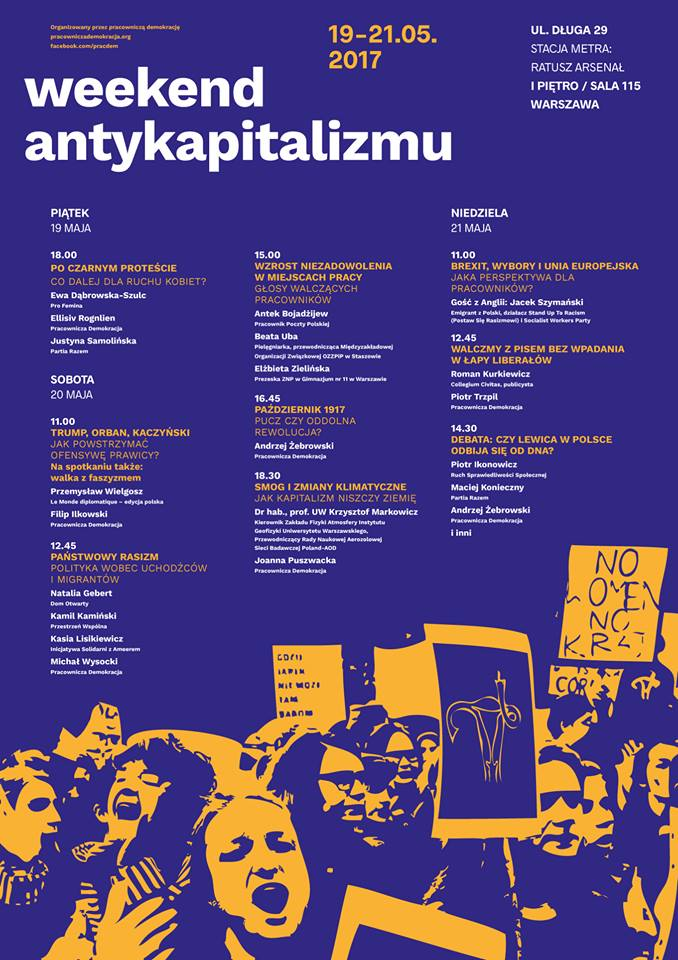 Plakat – Weekend Antykapitalizmu 2017