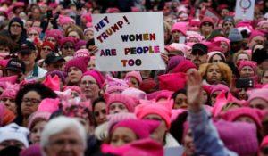 21.01.2017 Waszyngton. Wielka demonstracja kobiet przeciw Trumpowi.