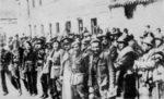 Dąbrowszczacy po bitwie pod Guadalajarą