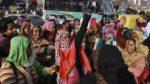 08.01.17 Nowe Delhi. Strajkujące pracownice miejskiego samorządu.