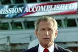 01.05.03 George W. Bush błędnie ogłasza zwycięstwo USA w Iraku.