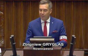 Zbigniew Grygla - Nowoczesna - z opaską NSZ