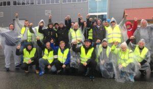 Strajkujący w firmie Norse Production