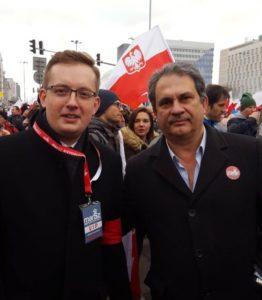 Faszystowska para na marszu - Robert Winnicki i Roberto Fiore.