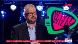 29.01.18 Antysemita Ziemkiewicz żartuje sobie w  państwowej telewizji nt. Żydów i komór gazowych.