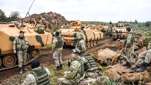 21.01.18 Wojska tureckie przed wkroczeniem do Syrii.