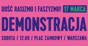 Demonstracja antyrasistowska 17 marca 2018