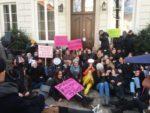 21.03.18 Studencki protest na dziedzińcu kurii warszawskiej.