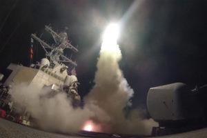 14.04.18 Odpalenie amerykańskiej rakiety Tomahawk.