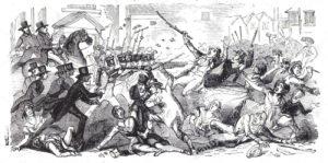 Sierpień 1842 r., Preston, Anglia. Policja i wojsko atakują czartystów.