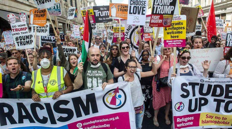 13.07.2018 Londyn. Ogromna demonstracja przeciw Trumpowi.