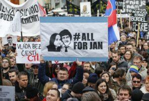 16.03.18 Bratysława po kilku dniach protestów.