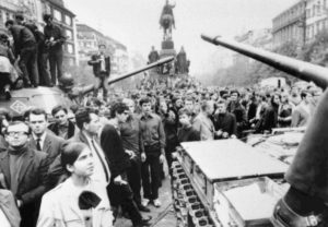 21.08.1968 Plac Wacława, Praga. Pierwszy dzień inwazji.