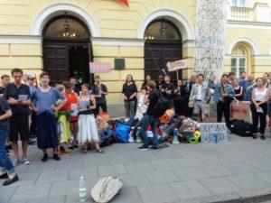 15.06.18 Ostatni, jedenasty, dzień okupacji na Uniwersytecie Warszawskim.