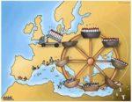rysunek - migranci wydatki na uzbrojenia