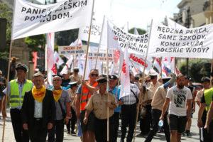 06.08.18 Kraków. Protest pracowników Wód Polskich.