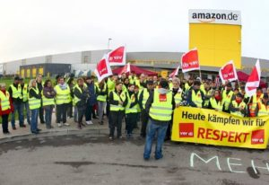 17.07.2018 Strajk w niemieckim Amazonie.