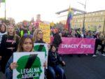 Żądamy legalnej aborcji - demonstracja