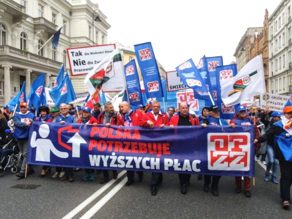 Manifestacja opzz - 22.09.2018