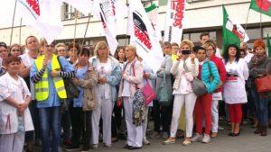 Strajkujące pielęgniarki