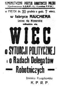 Ulotka KPRP 1918