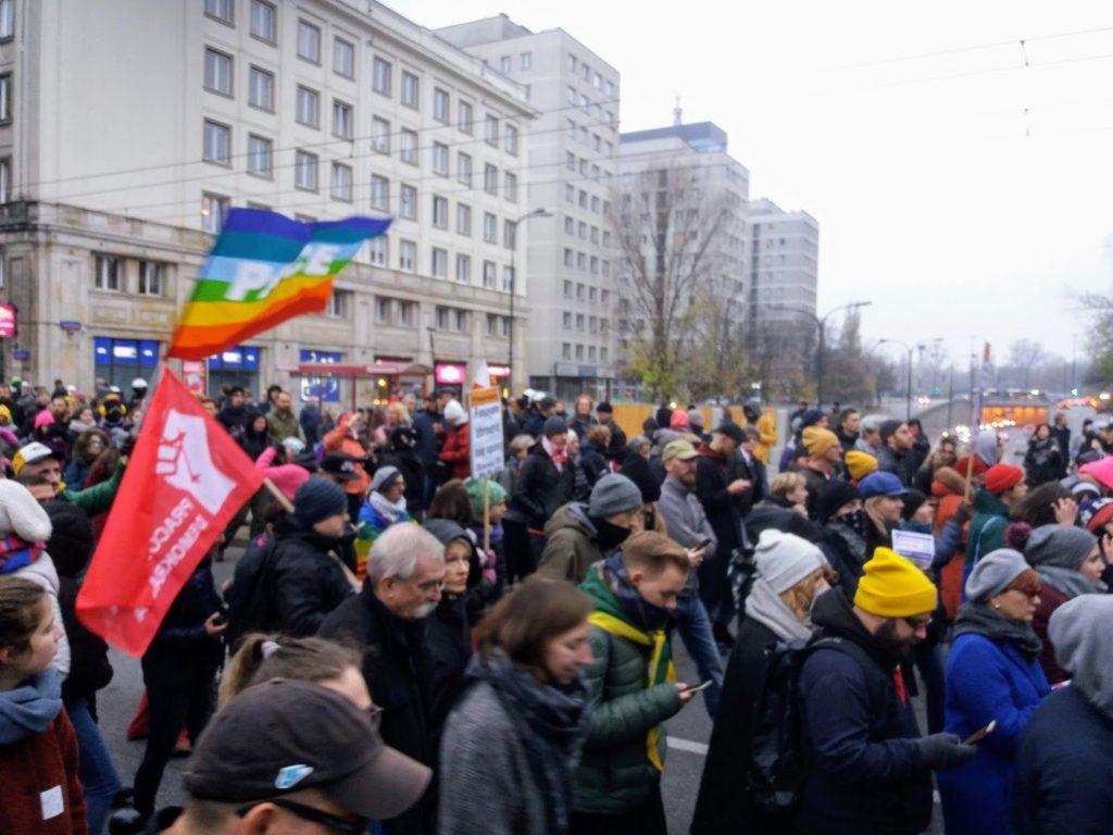 11.11.18 Warszawa. Demonstracja przeciwników normalizacji faszyzmu.