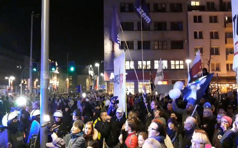 11.11.18 Wrocław. Kontrdemonstracja antyfaszystów.