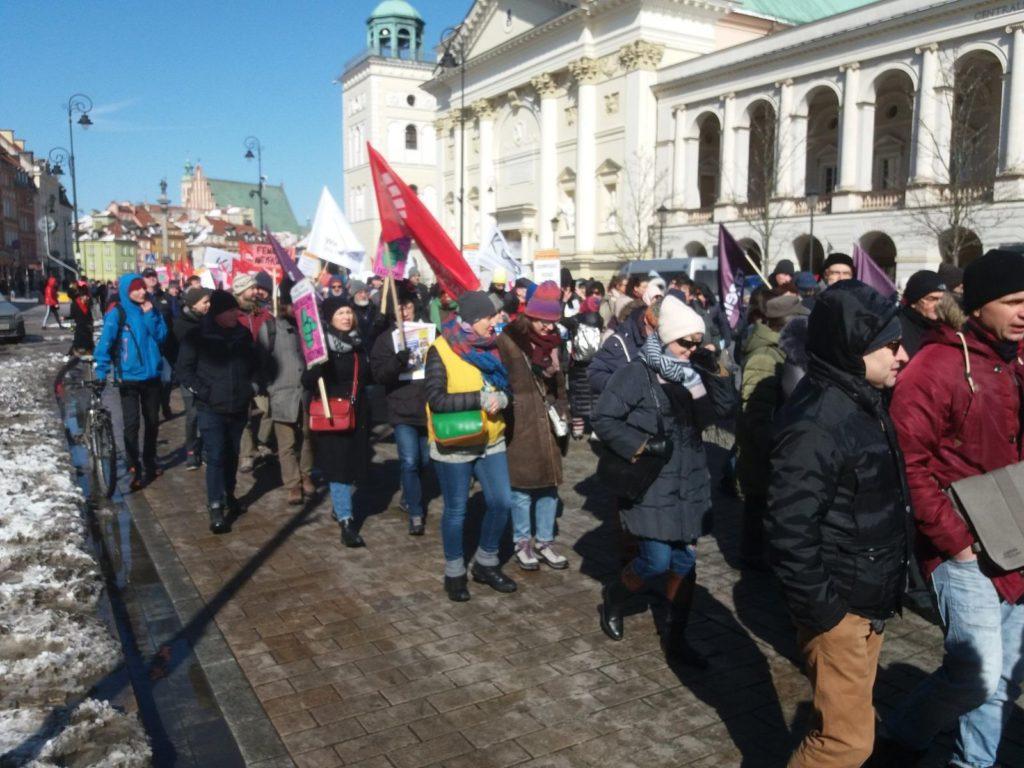 17.03.2018 Zeszłoroczna demonstracja w Warszawie.