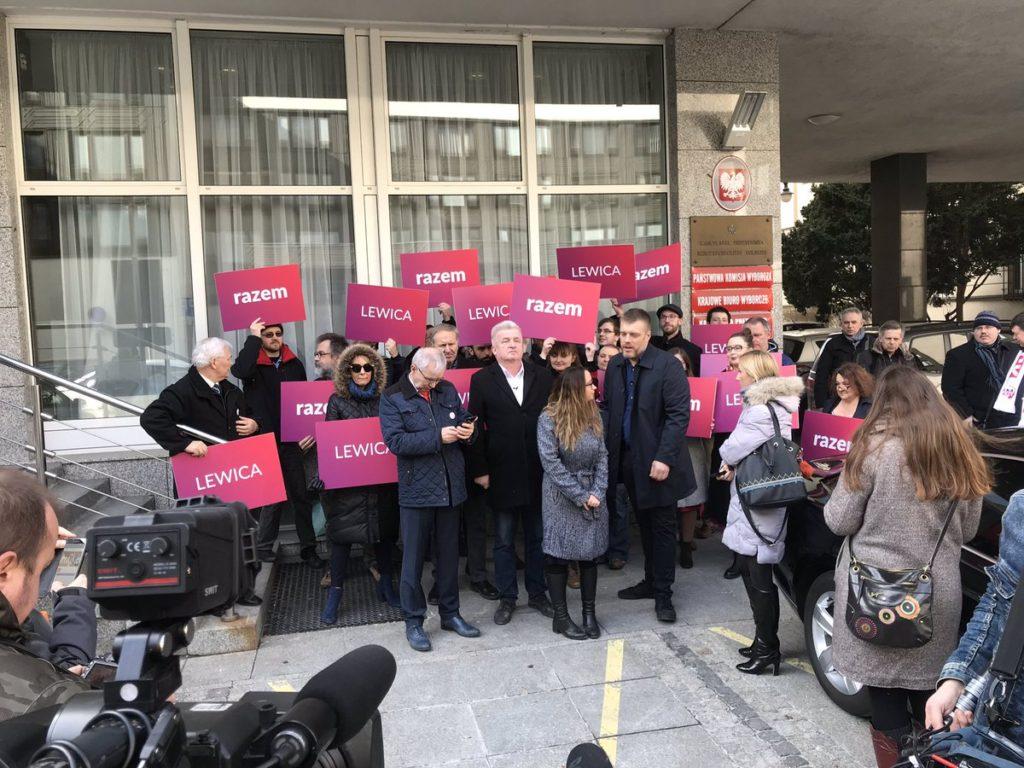Ogłoszenie startu koalicji Lewica Razem.