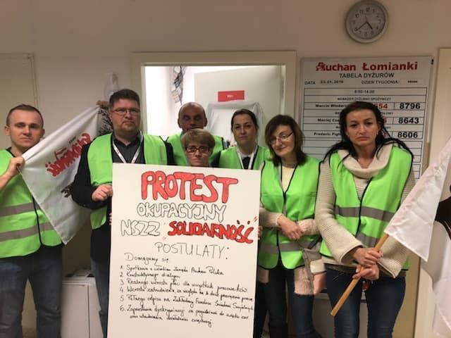 Auchan - okupacja pracowników