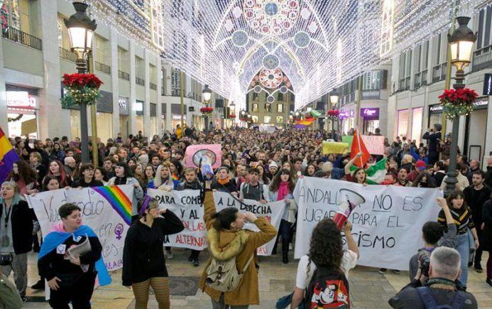 03.12.18 Malaga. Protest przeciw partii Vox.
