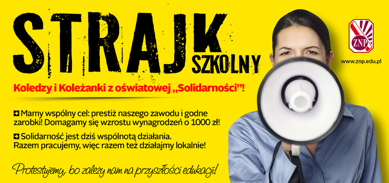 Plakat strajkowy ZNP