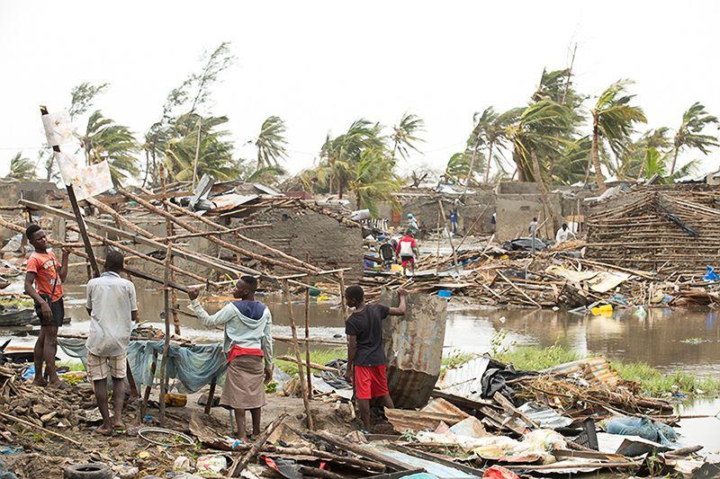 Beira, Mozambik. Spustoszenie spowodowane przez cyklon Idai.