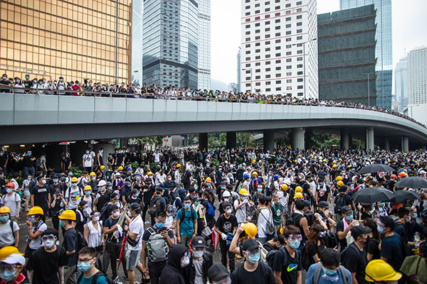 Masowy protest w Hongkongu
