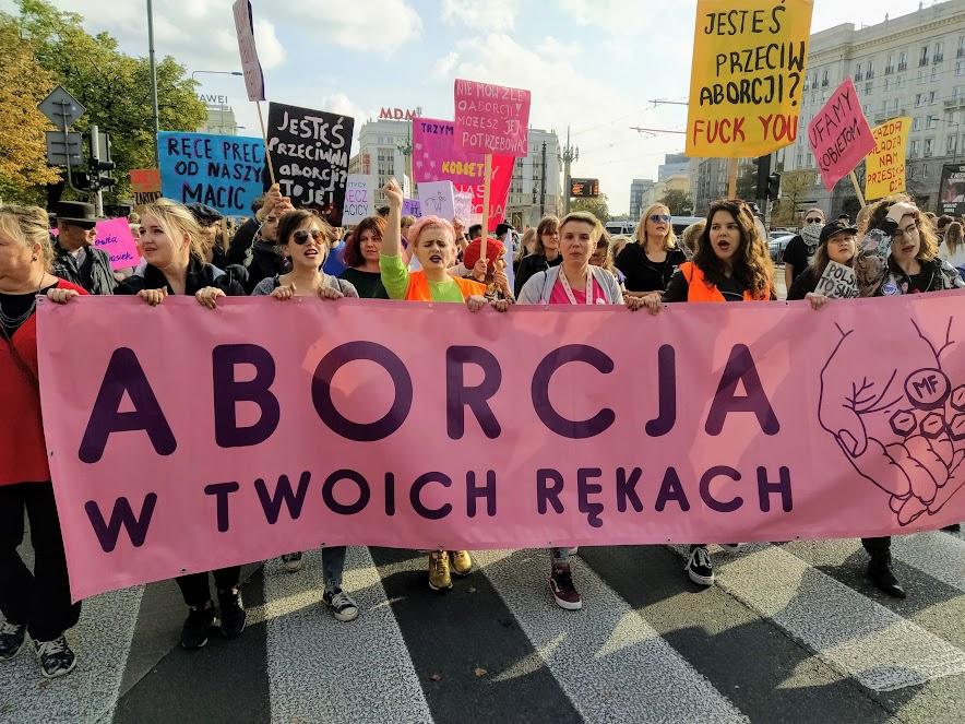 27.09.19 Warszawa. Marsz z okazji Dnia Bezpiecznej Aborcji.