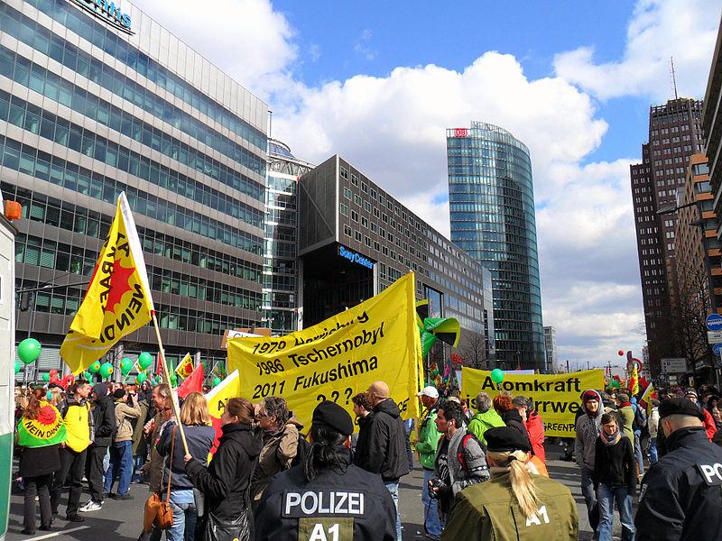 26.03.11 Berlin. Protest antynuklearny.