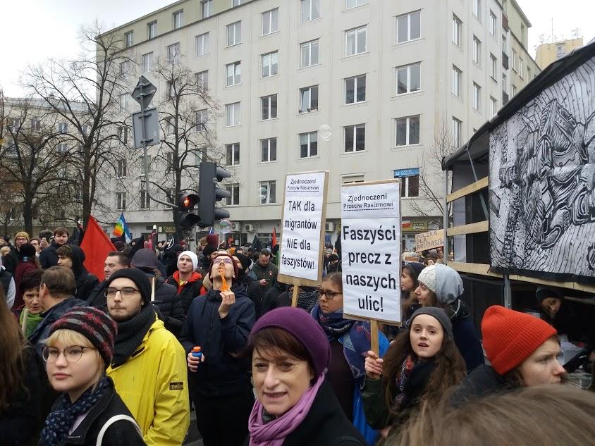 11 listopada 2018 r. Demonstracja antyfaszystowska w Warszawie.