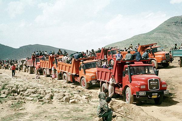 Kurdyjscy uchodźcy w Iraku, w 1991 roku.