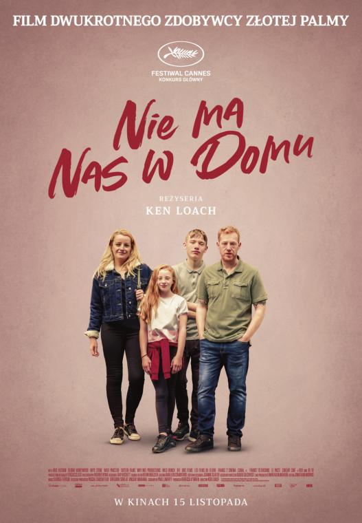 """Plakat filmu """"Nie ma nas w domu""""."""
