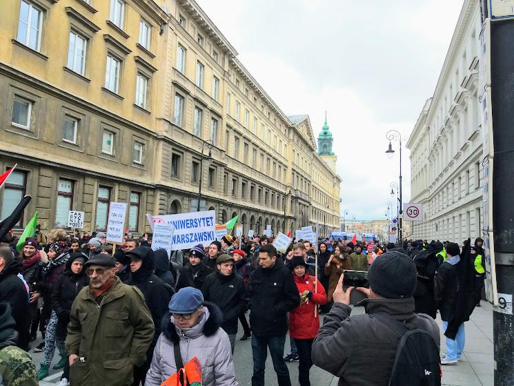 16.03.2019 Zeszłoroczna demonstracja w Warszawie.