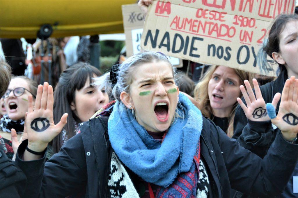 Demonstracja klimatyczna w czasie COP25.