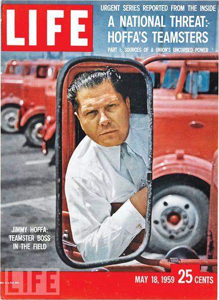 "Maj 1959 r. Hoffa na okładce magazynu ""Life""."