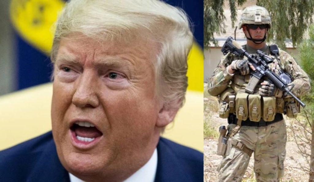 Donald Trump i żołnierz