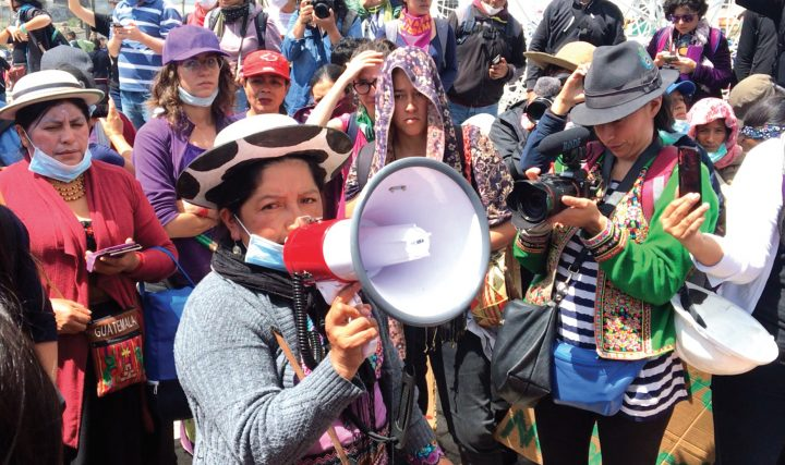 Niedawna demonstracja w Ekwadorze.