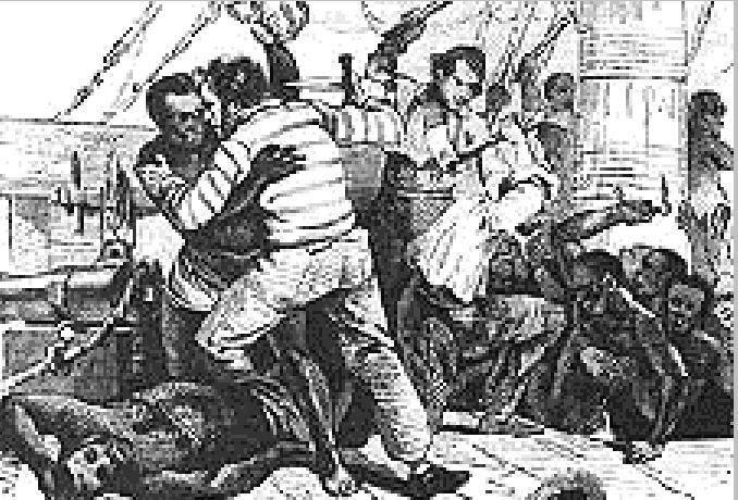Bunt niewolników na statku.