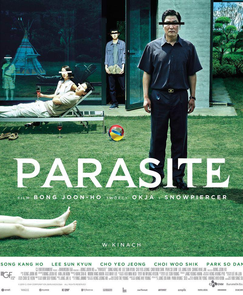 """Plaka filmu """"Parasite""""."""