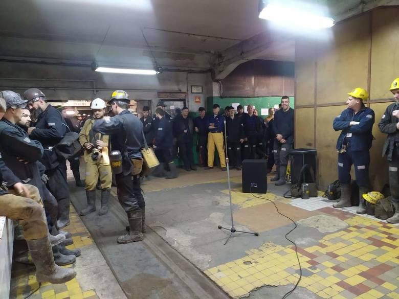 17.02.20 Strajkujący górnicy.